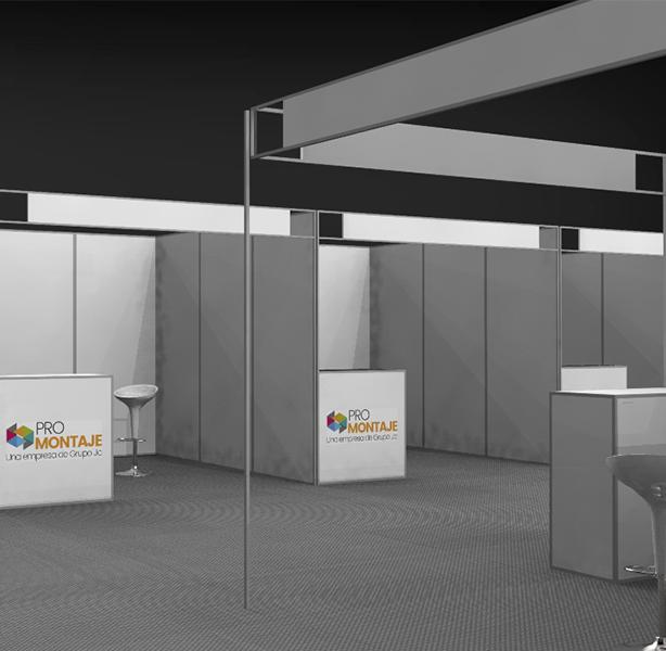 Montaje institucional y diseño de stand